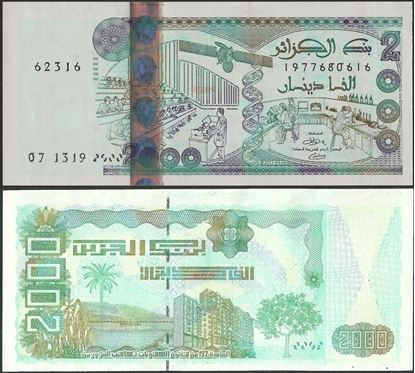 Picture of Algeria,P144,B408b,2000 Dinars,2011