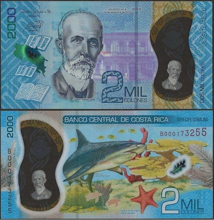 Picture of Costa Rica,B565,2000 Colones,2020