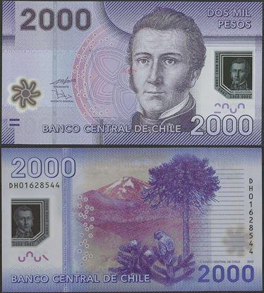 Picture of Chile,P162,B297c,2000 Pesos,2013