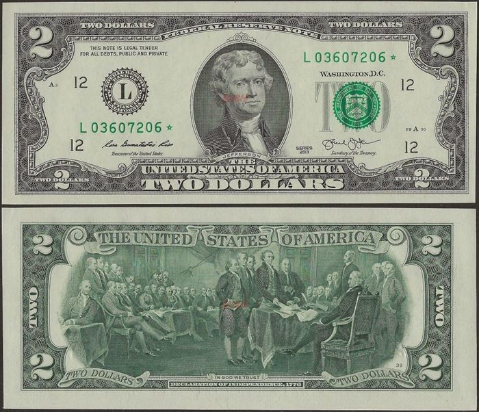 Picture of USA ,P538,2 Dollar,San Fransico CA-L,2017,REPLACEMENT