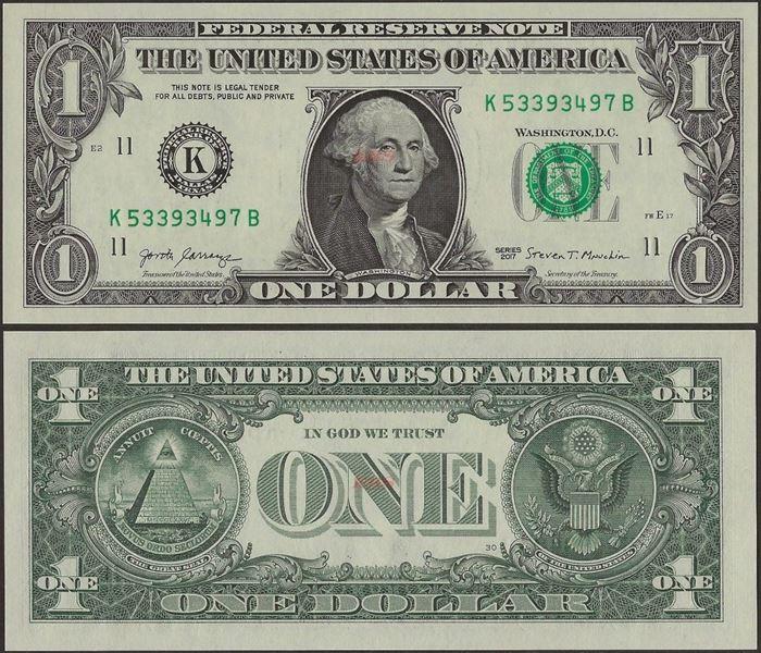 Picture of USA ,P544,1 Dollar,Dallas TK -K,2017