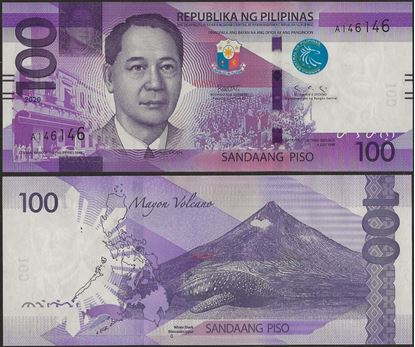 Picture of Philippines,B1091,100 Piso,2020