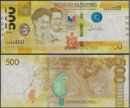 Picture of Philippines,B1093,500 Piso,2020