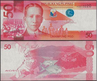 Picture of Philippines,B1085e,50 Piso,2019