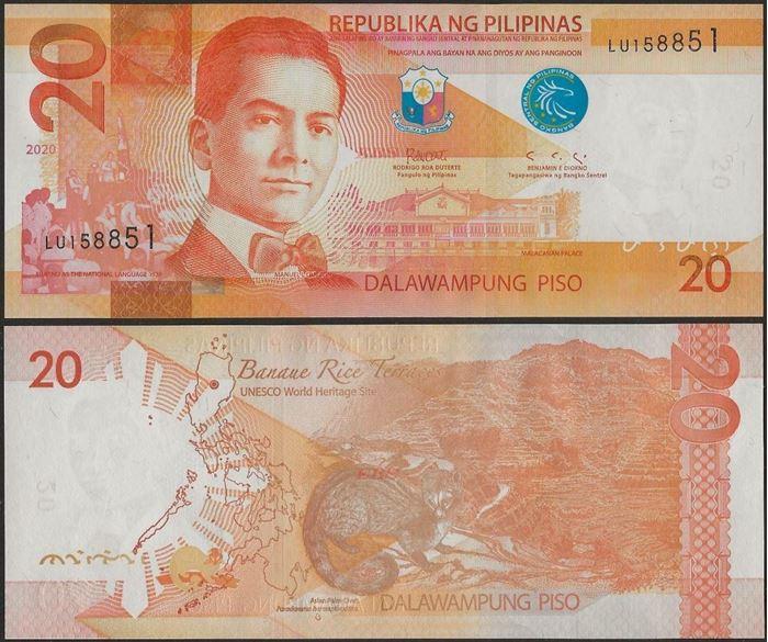 Picture of Philippines,B1084e,20 Piso,2020