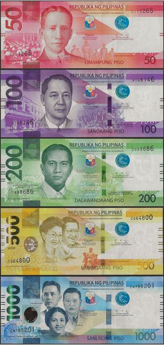 Picture of Philippines,SET,B1090-1094,50-1000 Piso,2020,