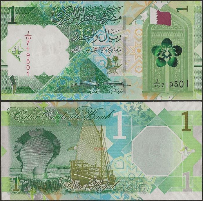 Picture of Qatar,B219,1 Riyals,2020