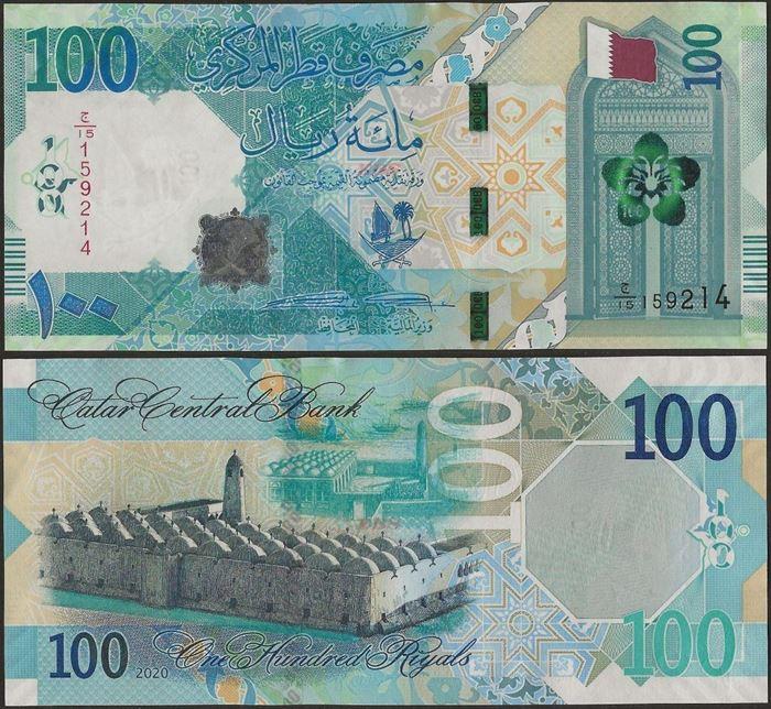 Picture of Qatar,B223,100 Riyals,2020