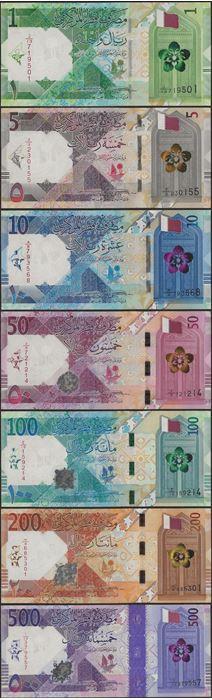 Picture of Qatar,B219-B221,1-10 Riyals,2020,SET