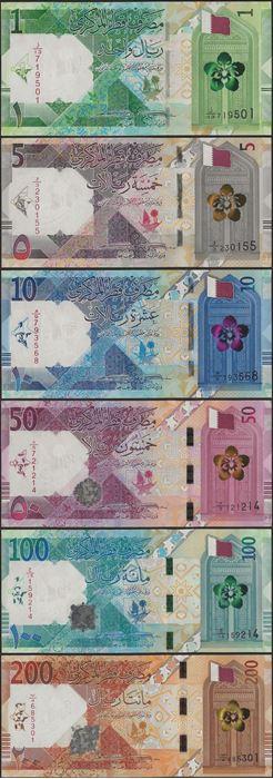 Picture of Qatar,B219-B224,1-200 Riyals,2020,SET
