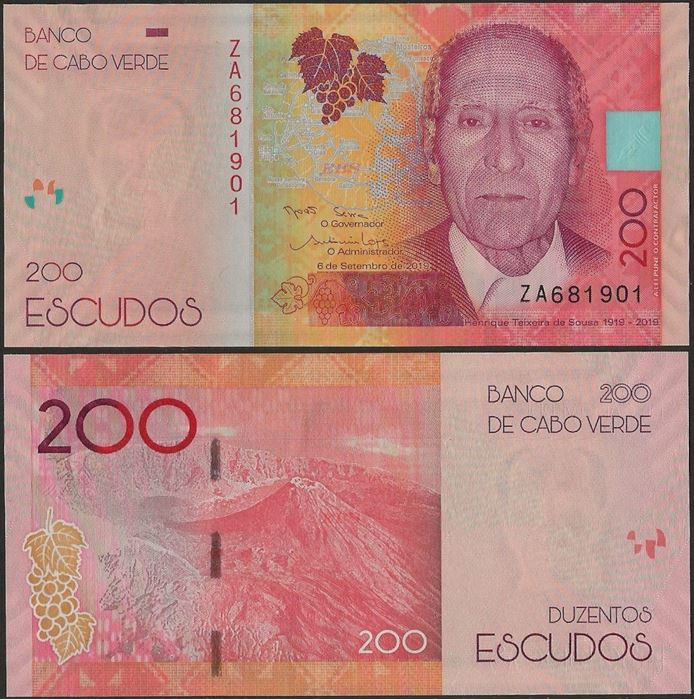 Picture of Cape Verde,B222,200 Escudos,2019,REPLACEMENT