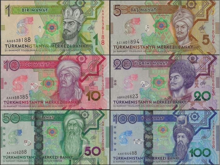 Picture of Turkmenistan,SET,B234-B239,186  Manat,2020,Comm