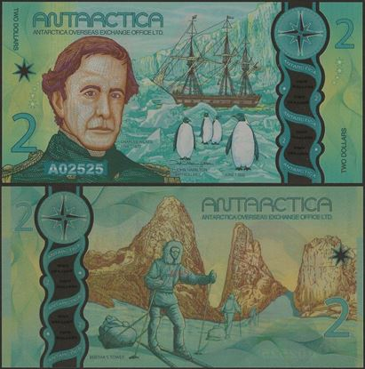 Picture of Antarctica,2 Dollars,2020,Polymer