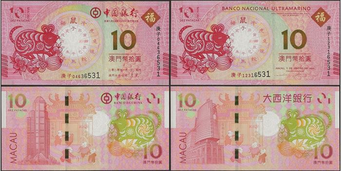 Picture of Macau,SET - 10 Patacas,2020,Rat,Comm