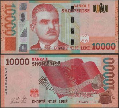 Picture of Albania,B327,10000 Leke,2019 (In 2021)