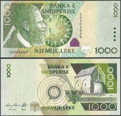 Picture of Albania,P73,B318c,1000 Leke,2011