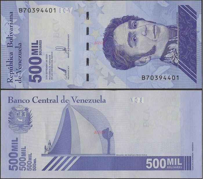 Picture of Venezuela,B383,500 000 Bolivares,2020