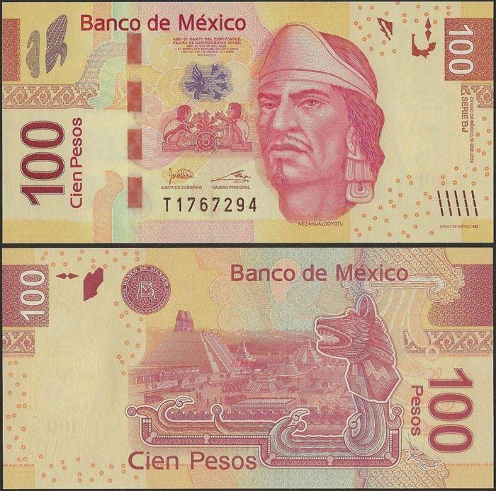 Picture of Mexico,P124,B706r,100 Pesos,2019