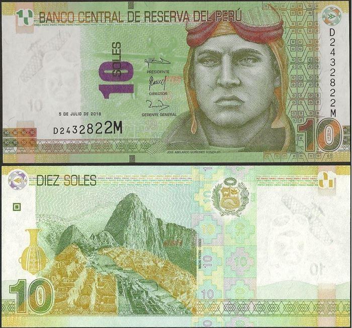 Picture of Peru,P192,B532b,10 Soles,2018