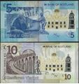 Picture of Scotland, 5 and10 Pound,Matching Pair,with folder