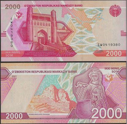 Picture of Uzbekistan,B217,2000 Som,2021