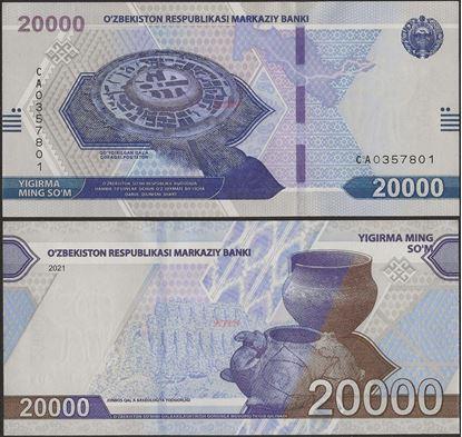Picture of Uzbekistan,B220a,20000 Som,2021