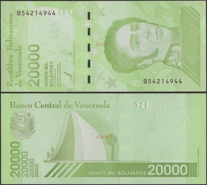 Picture of Venezuela,B380b,20 000 Bolivares,2020