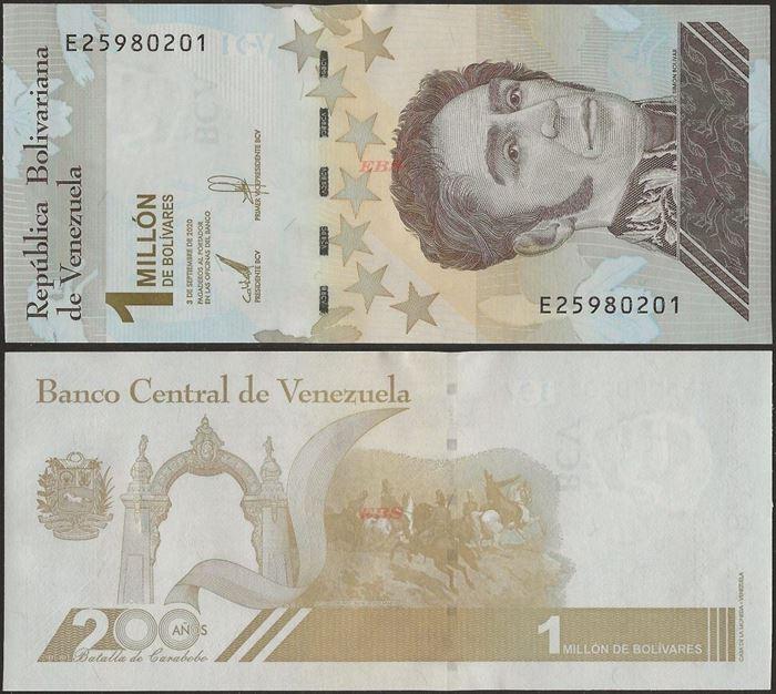 Picture of Venezuela,B384,1 Million Bolivares,2020