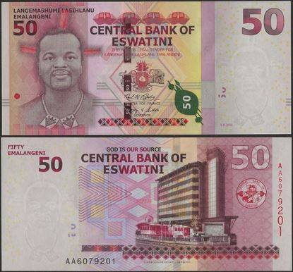 Picture of Eswatini,B103a,50 Emalangeni,2018 (In 2021)