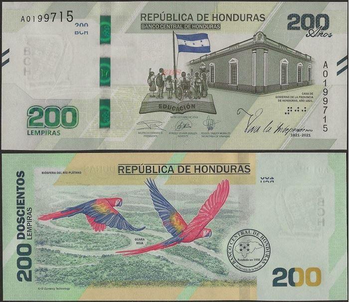 Picture of Honduras,B355,200 Lempiras,2021