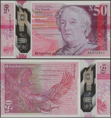 Picture of Scotland,50 Pounds,2020 ( In 2021),RBS,AA Prefix