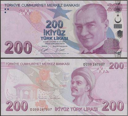 Picture of Turkey,P227d,B305d,200 Lira,D Prefix