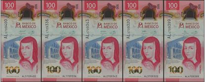 Picture of Mexico,B715,100 Pesos,2020,ALL 5 Signs