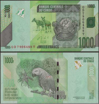 Picture of Congo Dem Republic,P101c, B323c,1000 Francs,2020