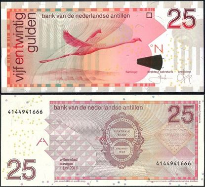 Picture of Netherlands Antilles,P29,B226f,25 Gulden, 2011