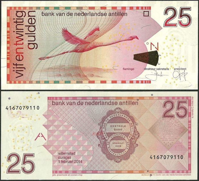 Picture of Netherlands Antilles,P29,B226h,25 Gulden, 2014
